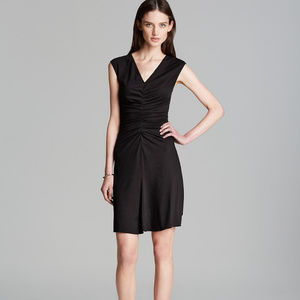 "Theory Pima Cotton Ruched Bodycon ""Stellyn"" Dress"